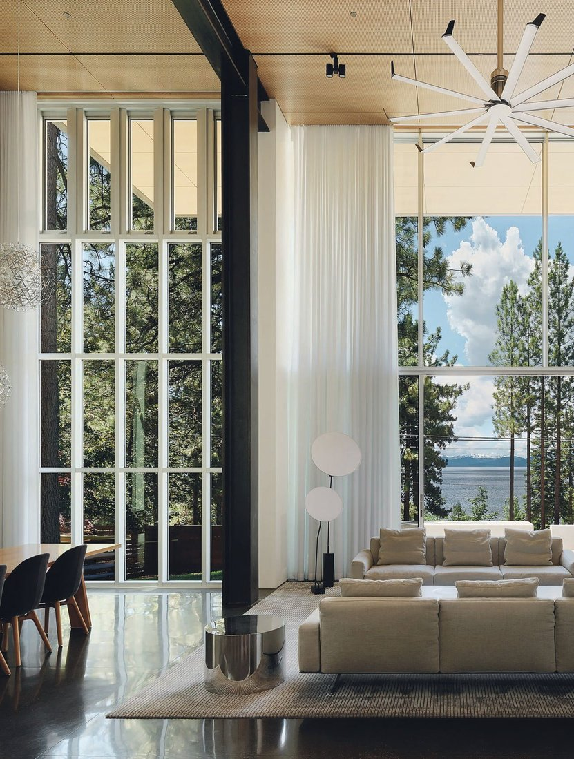 """This dramatic mountain-modern luxury home showcases architecture as art without sacrificing the purposeful function for daily living,"" says agent Bill Deitz of 712 Lakeshore Blvd. Data courtesy of Compass for the Lake Tahoe and Bay Area Regions (May to October 2020 and 2019) PHOTO BY JOE FLETCHER"