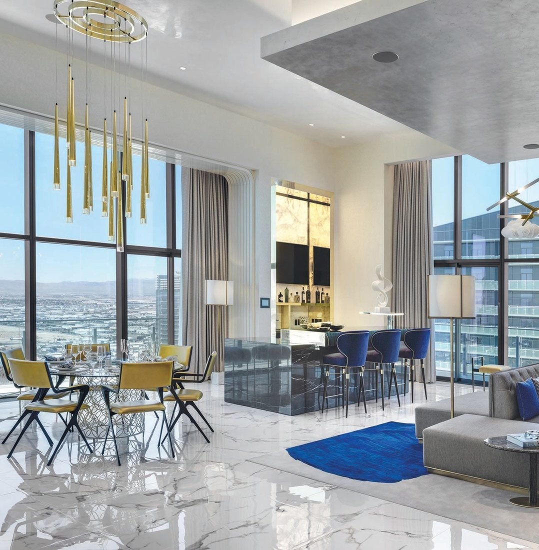 Designed in collaboration with Tihany Design, Daun Curry and Richmond International, The Cosmopolitan's Boulevard Penthouses will be available to the public for the first time in 2021 PEGASUS PHOTO BY ANTHONY MAIR